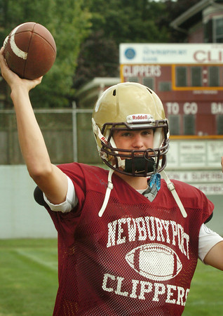 Newburyport: Drew Bourdeau will be starting as quarterback for Newburyport on Friday as Connor Wile is nursing an injury. Bryan Eaton/Staff Photo