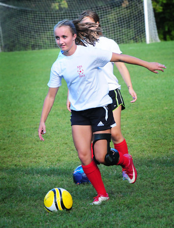 Amesbury: Amesbury soccer player Megan Cullen has returned to practice returning from surgery. Bryan Eaton/Staff Photo