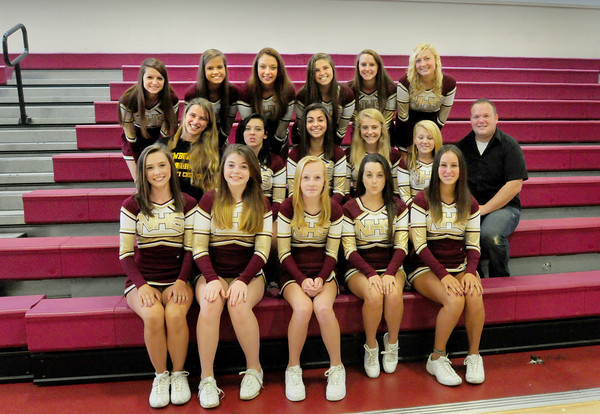 Newburyport: Newburyport High School football cheerleaders. Bryan Eaton/Staff Photo