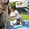 Newburyport: Jackson, who belongs to Kim Emmons of Newburyport, gets a massage at Mary Carrillo of Good Dog Aquatic Fitness of North Andover at the Gracie's Mission Inc. Animal Rescue Festival at Cashman Park Sunday morning. The free event will feature goodie bags, animal massages, makeovers and Reiki treatments. Pets looking for loving homes will also be on hand. Food and refreshments will be available and there will be raffles, vendors, a parade, contests and more.Jim Vaiknoras/staff photo