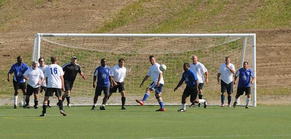 Amesbury: Team Aruba battle Team Massachusetts in an International Soccer Match for the Over 50 Set at Amesbury Sports Park. Jim Vaiknoras/staff photo