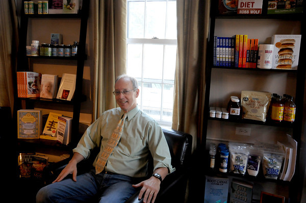 Dr Dan at his Newburyport office.