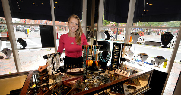 Newburyport:Manager Elisabeth Henry at Market Square Jewlers. Jim Vaiknoras/staff photo