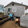 Newbury: Bob and Anetta Currier at the house at 3 4th St, The house is being moved to make room for a new house they are building. Jim Vaiknoras/staff photo