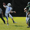 West Newbury: Danvers's Nick Andreas makes a throw downfield during the Falcon's game at Pentucket Saturday. Jim Vaiknoras/staff photo