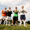 Newburyport boys soccer co-captains, Jordy Steelman, Matt Canning, Alex Salah, Adam Traxler<br /> JIm Vaiknoras/staff photo