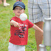Newburyport:Camden Bates, 2, knocks down milk bottles at Old Fashioned Sunday.Jim Vaiknoras/staff photo