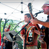 Newburyport: Demijohn and National Anthem play a mix of Celtic and classic rock in Market Square yesterday afternoon. Bryan Eaton/Staff Photo