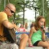 "Newburyport: Jordan Correia accompanies his daughter, Gianna, 9, to Taylor Swift's ""Everything Has Changed"" in the Kids Talent Showcase. Bryan Eaton/Staff Photo"