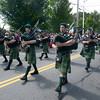 Newburyport: The Loyal Order of the Hibernians bag pipes makes their  way down High Street in the Yankee Homecoming parade Sunday. Jim Vaiknoras/staff photo