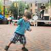 "Newburyport: Reggae lover Stone Hovde, 2, of Salisbury dances to Jesse and the Hogg Brothers play ""Stir It Up."" Bryan Eaton/Staff Photo"