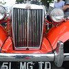 Newburyport:The grill on a 1951 MG at the car show  at Old Fashioned Sunday. JIm Vaiknoras/staff photo