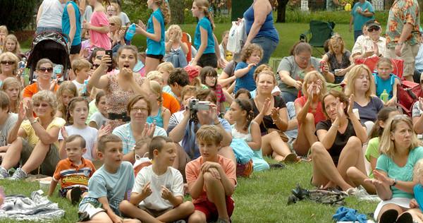 Newburyport: The Yankee Homecoming Kids Talent Showcase is always a big draw at Waterfront Park. Bryan Eaton/Staff Photo