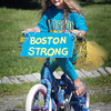 Newburyport: Julianna Bucknill, 7, of Newbury has a timely theme for her display at the Kids Day in the Park Bicycle and Carriage Parade. Bryan Eaton/Staff Photo