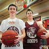 Newburyport: Brothers Dan, left, and Jake Baribeault on the Newburyport High basketball team. Bryan Eaton/Staff Photo