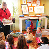 Byfield: Laurie Collins reads from her new book at Roots to Wings Yoga Studio in Byfield. Bryan Eaton/Staff Photo