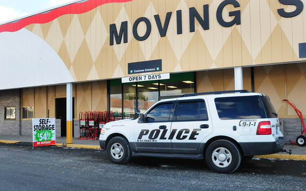 Salisbury: Salisbury police responded to the U-Haul complex where suspicious items were found in a returned truck. Bryan Eaton/Staff Photo