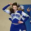 Byfield: Danver cheerleader Shannon Kenny during the teams performance at the Cape Ann Championships at Triton Sunday. Jim Vaiknoras/staff photo