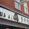 Newburyport: Damage to the Fowles sign on the building at 17 State Street. Jim Vaiknoras/staff photo