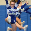 Byfield: Danver cheerleader Grace LoPilato during the teams performance at the Cape Ann Championships at Triton Sunday. Jim Vaiknoras/staff photo
