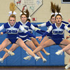 Byfield: Danver cheerleaders during the teams performance at the Cape Ann Championships at Triton Sunday. Jim Vaiknoras/staff photo