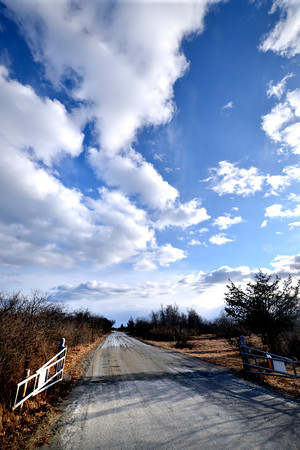 Newbury: Point on the road on the Plum Island Wildlife Refuge near Hellcat where the pavement ends and the gravel road begins. Jim Vaiknoras/staff photo