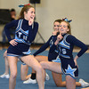 Byfield:Triton cheerleaders  Caitlin Clark and Ashly Shute during their performance at the Cape Ann Championships at Triton Sunday. Jim Vaiknoras/staff photo