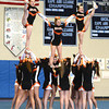 Byfield: Beverly cheerleaders during the teams performance at the Cape Ann Championships at Triton Sunday. Jim Vaiknoras/staff photo