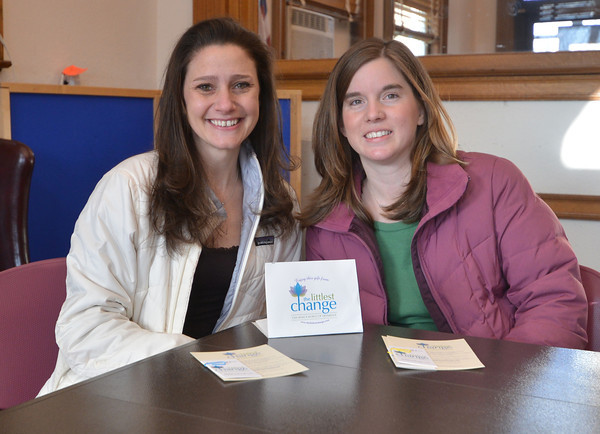 Amesbury:Dorothy McGrath and Danielle Levy have launched a website called The Littlest Change through which they are trying to encourge random acts of kindness in the community. Jim Vaiknoras/staff photo