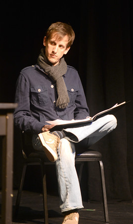 "Newburyport: Michael Rodrigues-Tennent in the Mareen Daley directed New Works ""Purple Hearts"". JIm Vaiknoras/staff photo"