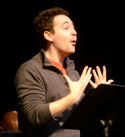 "Newburyport: Conor Blake in the Mareen Daley directed New Works ""Purple Hearts"" . JIm Vaiknoras/staff photo"