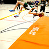 Ipswich: Pentucket's Tyler Feeney clear the bar on the high jump at a track meet at Ipswich High Tuesday. Jim Vaiknoras/staff photo