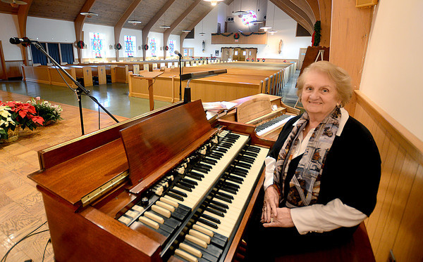 Rowley: Patricia McDonough recently retired from being the music director at St. Mary's Church in Rowley for more than 35 years.Jim Vaiknoras/staff photo