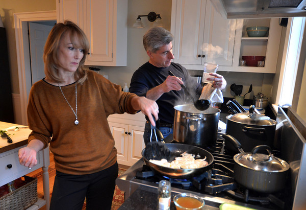 Newburyport: Cook of the Month Meg Wiley and her husband Jim. Jim Vaiknoras/staff photo