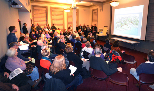 Newburyport: About 80 people attend an NRA meeting at the Newburyport Library Wednesday night. Jim Vaiknoras/Staff photo