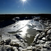 Salisbury: The sun shines off a frozen inlet in the salt marsh along Daniel Shay Drive in Salisbury. JIm Vaiknoras/staff photo