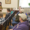 Newburyport:Mayor Donna Holaday speaks to Newbury residents at a special meeting of the Newburyport City Council Saturday morning. JIm Vaiknoras/staff photo