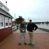 Newburyport: Harbor Master Paul Hogg and Paul Dahn at the Harbor Master Headquarters in Newburyport. Jim Vaiknoras/staff photo
