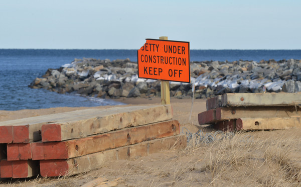 Newburyport: The South Jetty on Plum Island. Jim Vaiknoras/staff photo