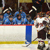 newburyport: Newburyport celebrates their first period goal in against Triton during their game at the Graf Rink in Newburyport saturday. Jim Vaiknoras/staff photo