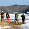 Amesbury: Birders search for eagles and other wildlife off Deer Island in Amesbury Sunday morning. Jim Vaiknors/staff photo