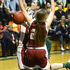West Newbury: Pentucket's Tess Nogueira is fouled by a Newburyport player during their game at Pentucket Friday night. Jim vaiknoras/staff photo