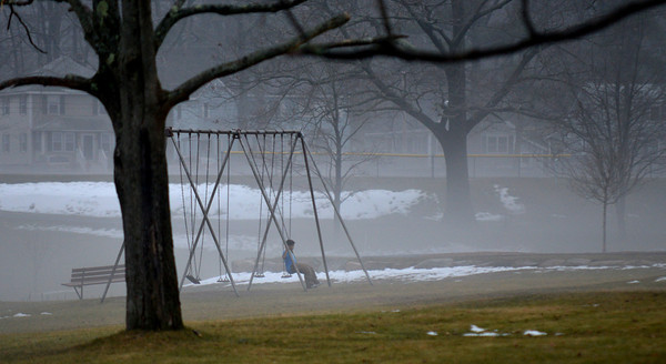 Amesbury: Think fog covers Amesbury Park late Sunday afternoon. Jim Vaiknoras/staff photo