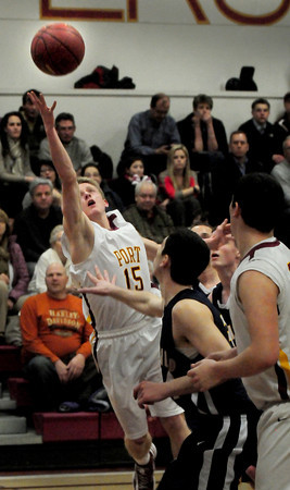 Newburyport: Newburyport's Adam Traxler tries for two last night against Lynnfield. Bryan Eaton/Staff Photo