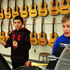 Salisbury: Jaryd Plante, 11, left, and Deven Carlsen, 10, practice the snare drum and bass drum respectively on Thursday afternoon. They were in Beginner's Band taught by music teacher Deb Walton at Salisbury Elementary School, one of the after hours programs there. Bryan Eaton/Staff Photo