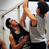 Newburyport: Colt Fontaine, left, in practice. Bryan Eaton/Staff Photo