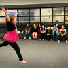 "Salisbury: Megan Anderson, 9, makes a jump in her dance number to the song ""Pretty Boy"" afterschool at Salisbury Elementary School. She was auditioning for the Talent Show in April. Bryan Eaton/Staff Photo"