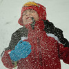 Amesbury: Aidan Whittier, 7, gets hit by falling snow he threw in the air while playing with friends at the playground at Amesbury Elementary School. He might have a hard time playing in the snow next week as temperatures close to 50 degrees should melt what's left. Bryan Eaton/Staff Photo