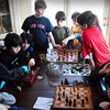 Amesbury: Youngsters compete in a chess tournament Monday at the home of Stephen and Julie Amery in Amesbury. They were hosting their third annual Marting Luther King Day Highlands Chess Tournament where ages eight through adult paticipated in the friendly competition. Bryan Eaton/Staff Photo