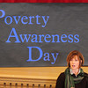 Newburyport: Ingrid Cyros of the Hugh Doyle Resource Center was one of several speakers at the Poverty Awareness Day sponsored by the River Valley Charter School. Bryan Eaton/Staff Photo